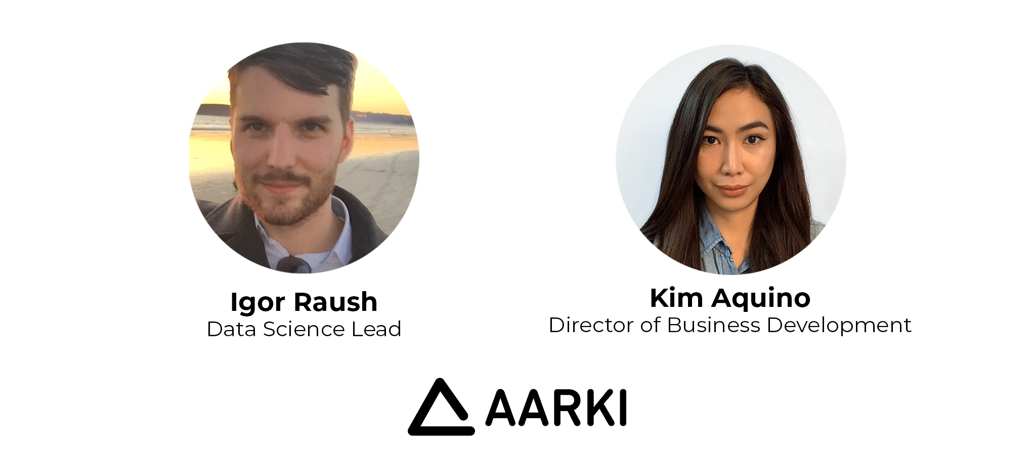Aarki Team headshots, Igor, Kim