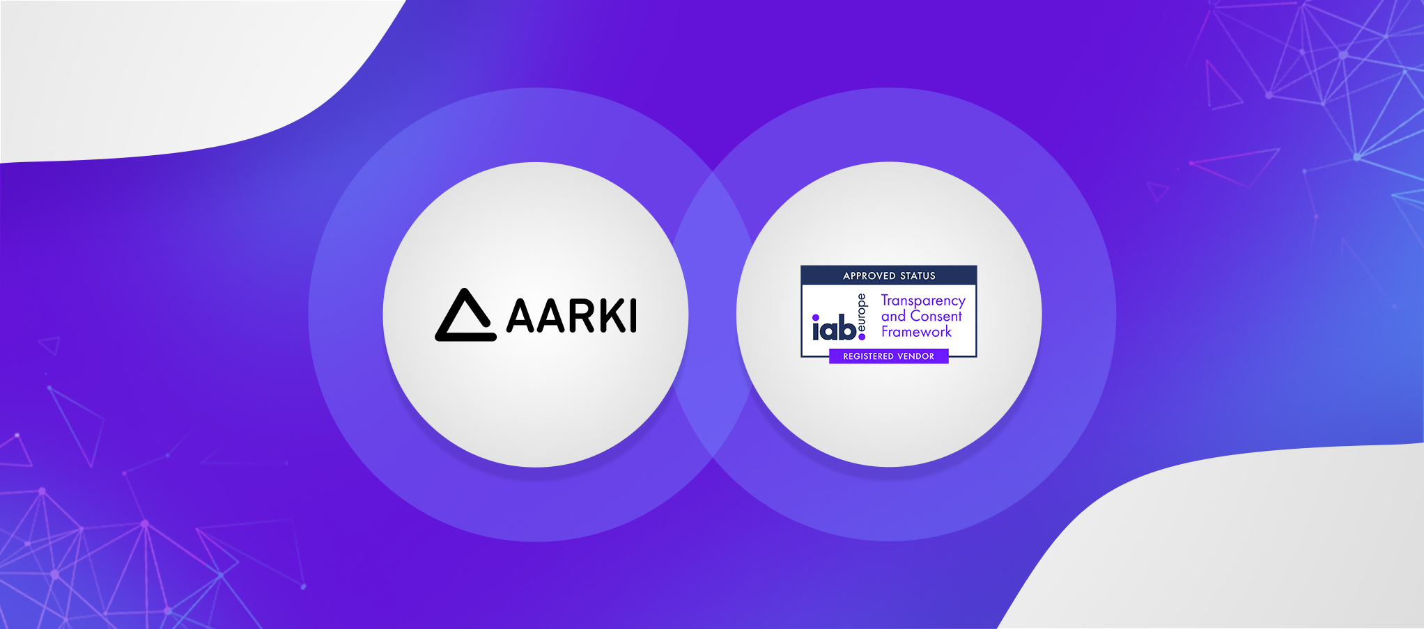 Aarki and IAB Framework logos