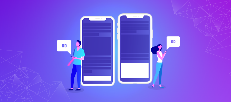 Small and Medium Banner ads on mobile screens