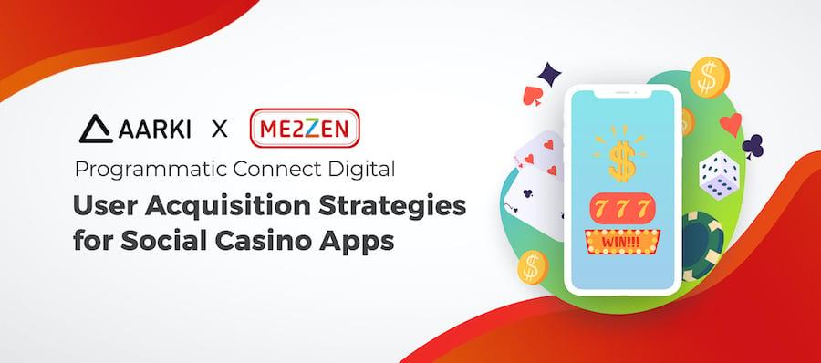 Me2zen Aarki User Acquisition Growth Social Casino