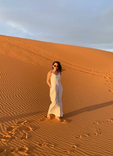 Celina on a desert