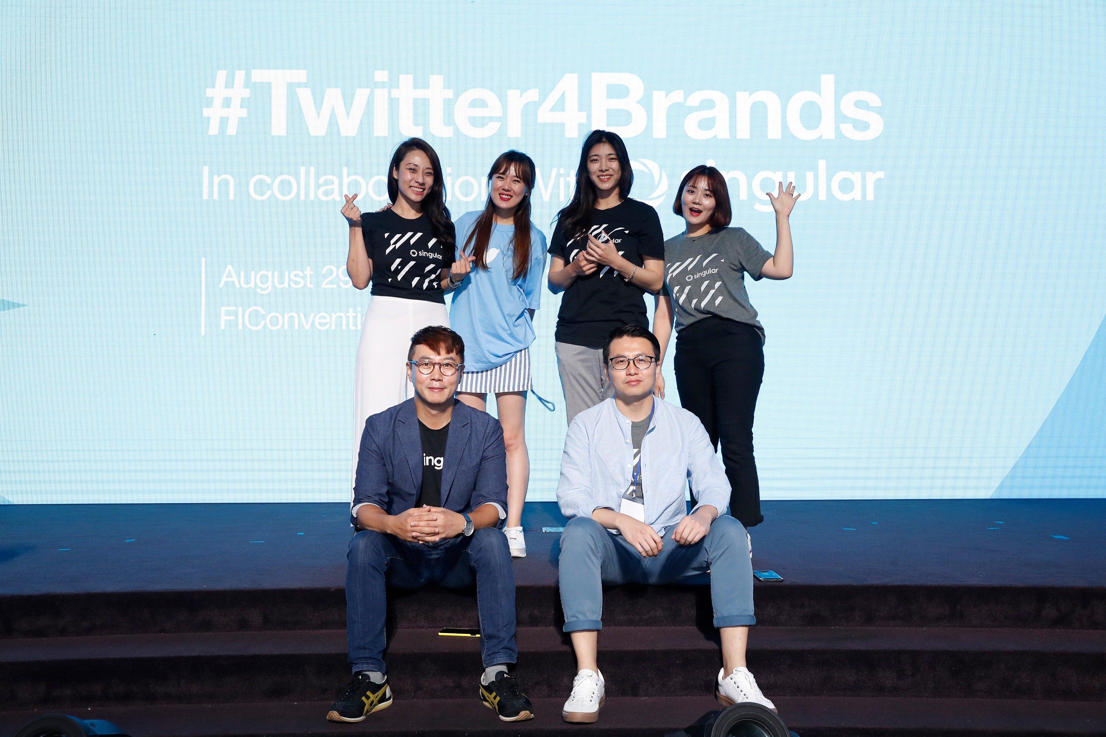 Singular Korea team posing for a photo at Kakao talk event