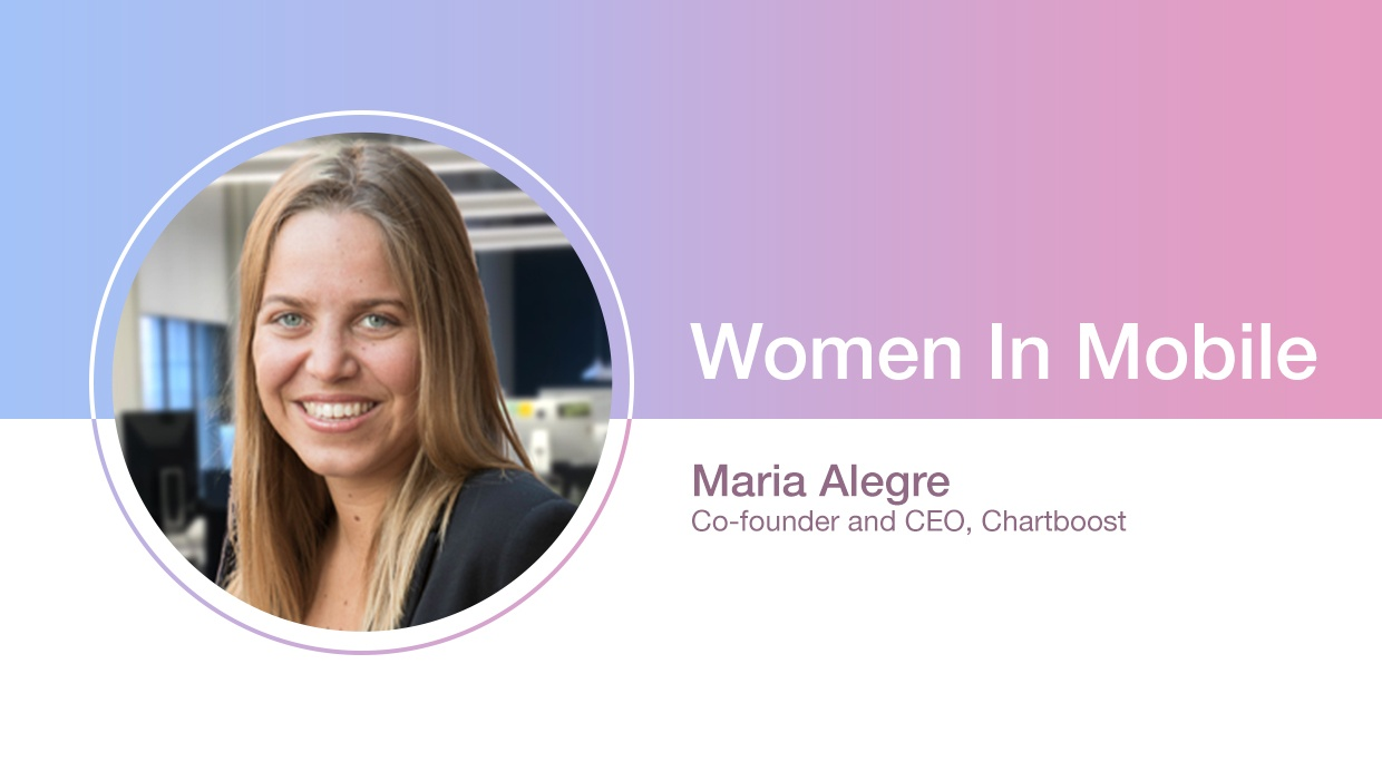 Maria Alegre, Co-founder and CEO at Chartboost at Aarki's Women in Mobile series