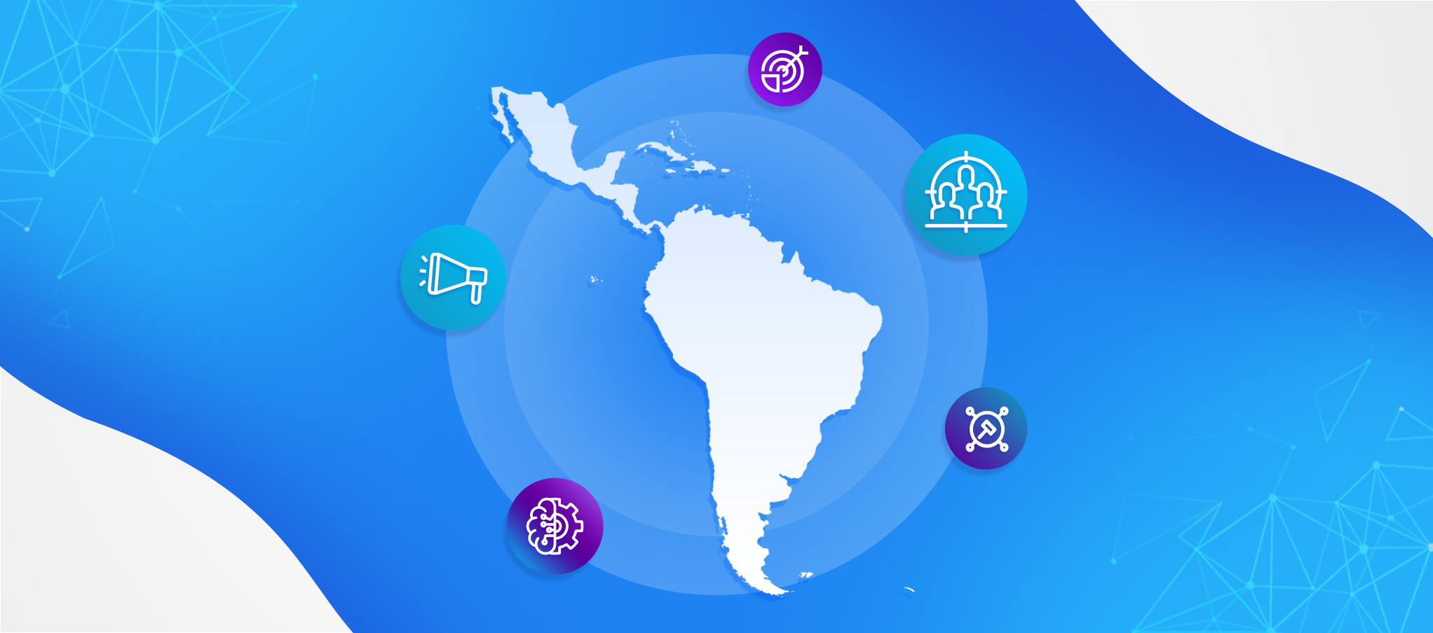 Programmatic Advertising in Latin America: Latin America map