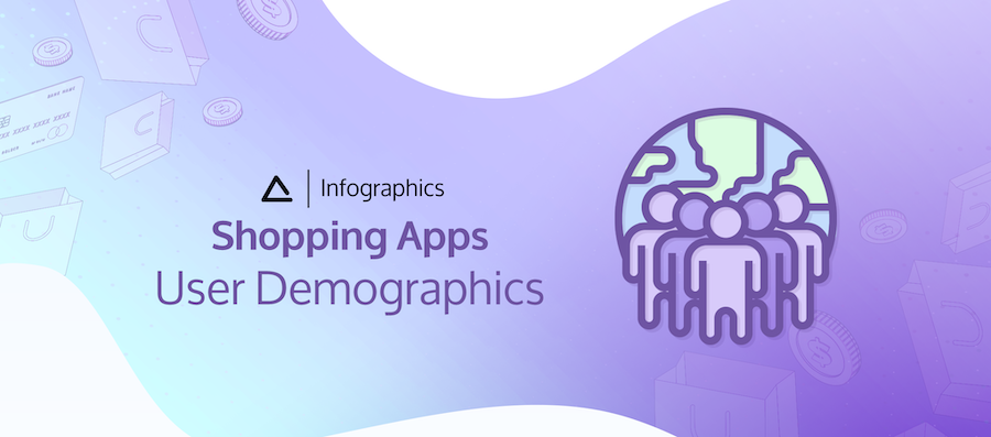 Shopping Apps: User Demographics infographics