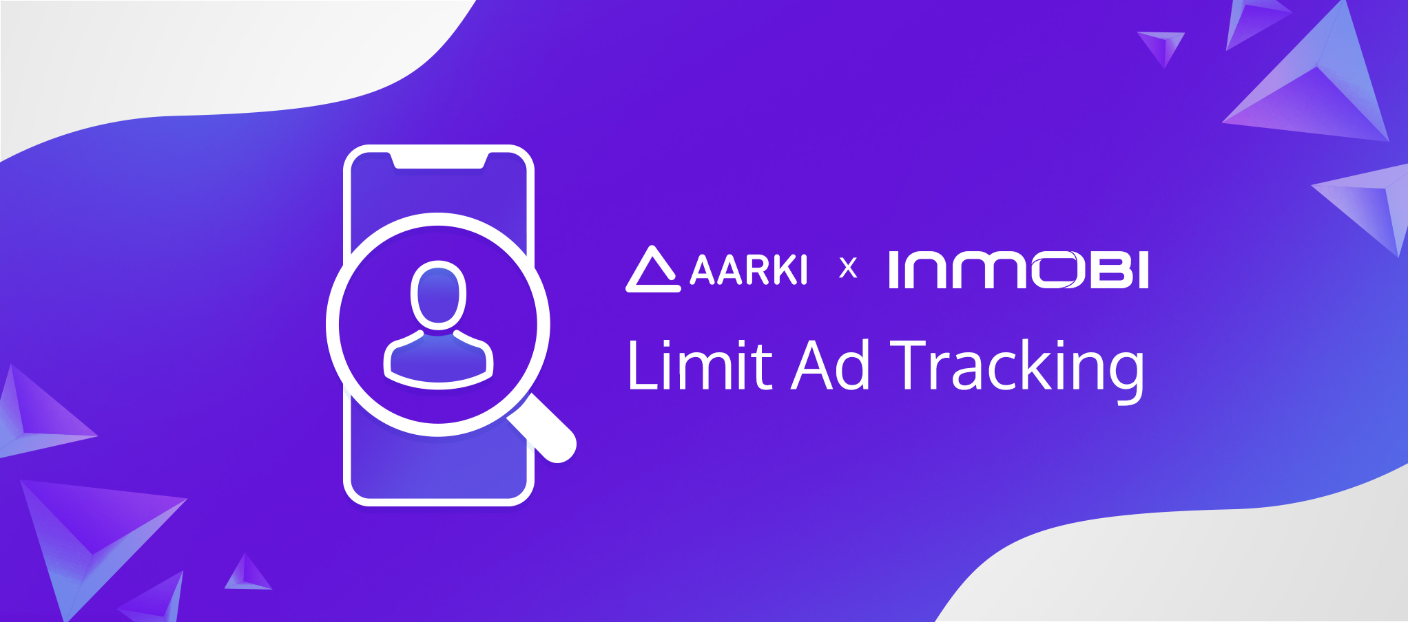 Aarki and InMobi logos: iOS14 LAT