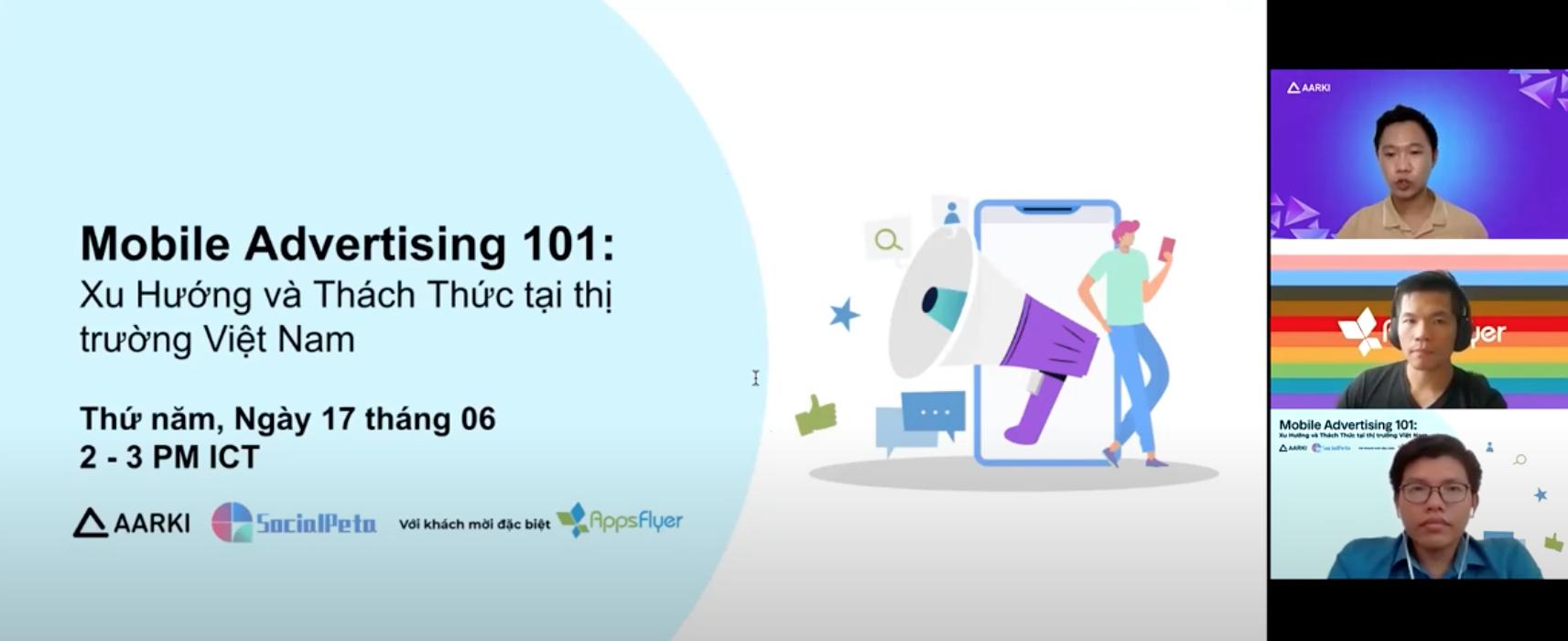 Mobile Advertising 101: Trends & Challenges in the Vietnam Market Webinar AppsFlyer SocialPeta Aarki