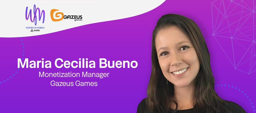 Maria Cecilia Bueno, Monetization Manager at Gazeus Games at Aarki's Women in Mobile