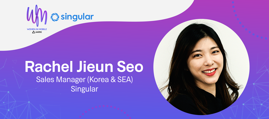 Rachel Jieun Seo, Sales Manager at Singular, at Aarki's Women in Mobile Series