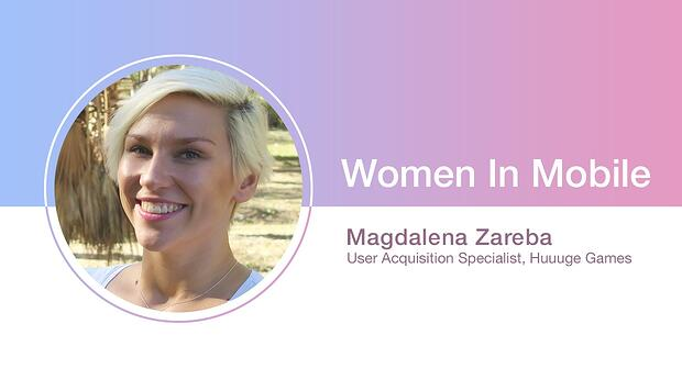 Magdalena Zareba, User Acquisition Specialist at Huuuge Games at Aarki's Women in Mobile series