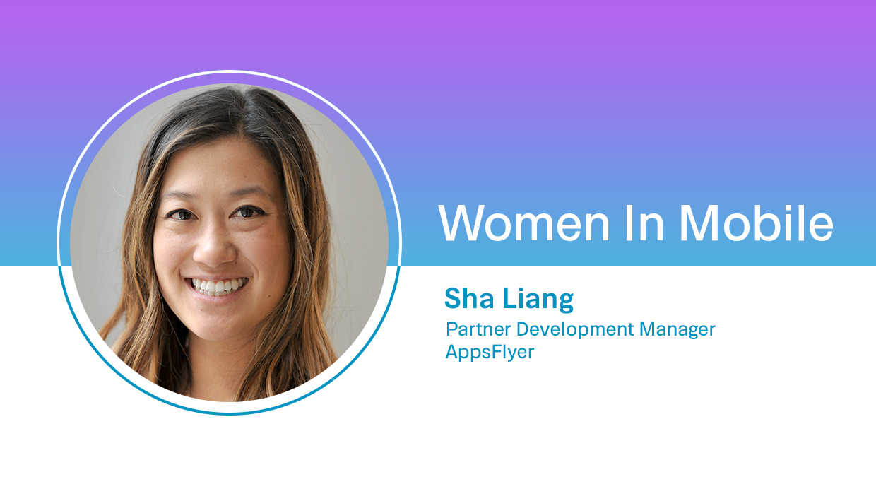 Sha Liang, Partner Development Manager at AppsFlyer at Aarki's Women in Mobile series