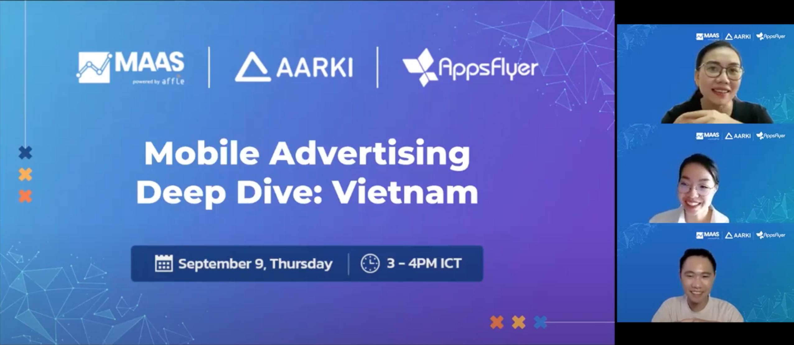 Mobile Advertising Deep Dive Vietnam Aarki MAAS by Affle AppsFlyer Tri Huynh Dung Nguyen KC Nguyen